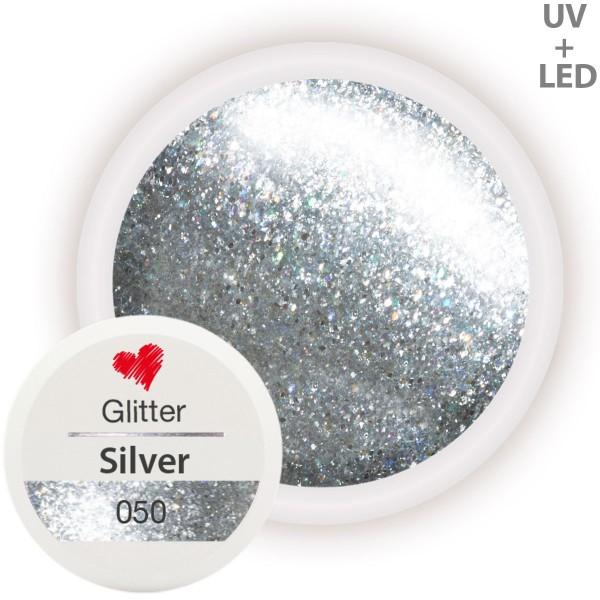 050-Glitter-Farbgel-Silver