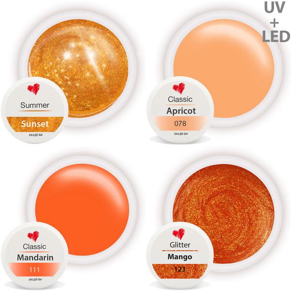 Farbgel Set Orange Fruit Salad nailart gel