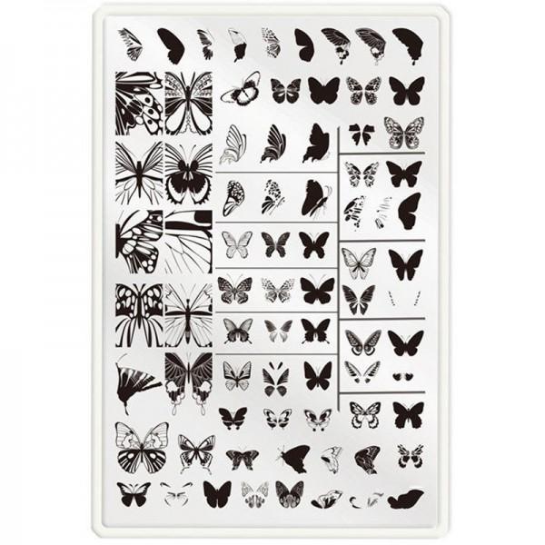 XXL Stamping Schablone Schmetterling doppel Stamping