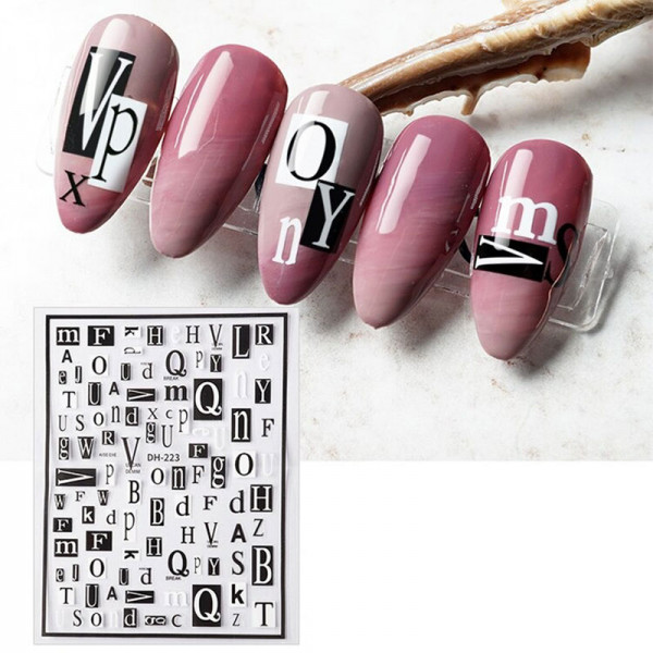 Buchstaben Nail Sticker naildesign