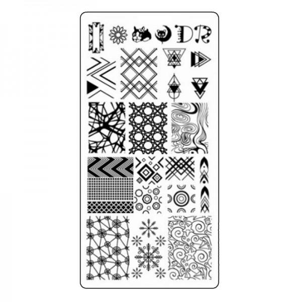 Stamping Schablone Geometric 2