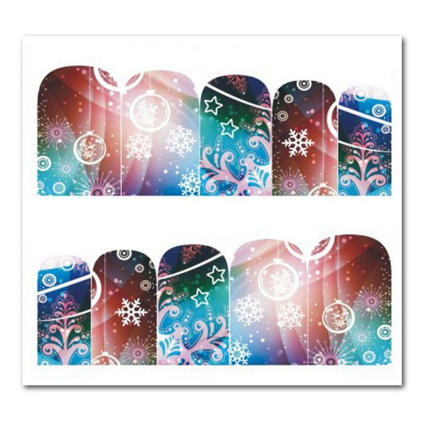 Weihnachten Nail Tattoo Slider Wrap Schnee Advent