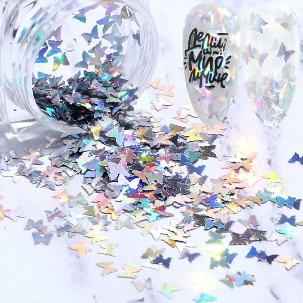 Schmetterling Glitzer Silber