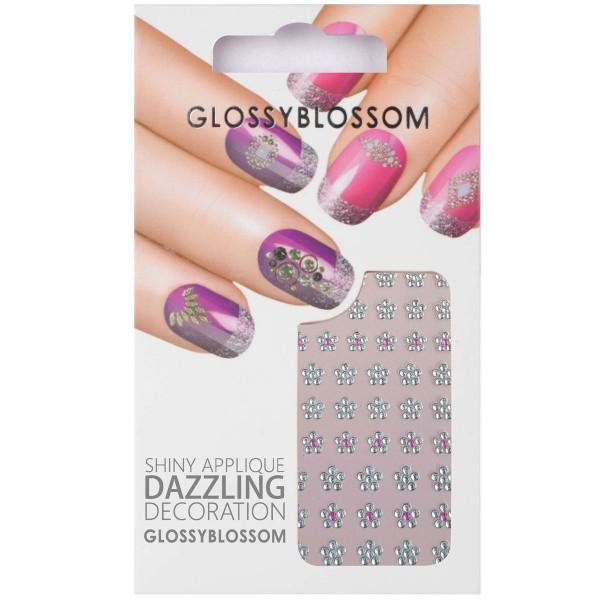 Glossy Blossom Nail Sticker 8 Blumen