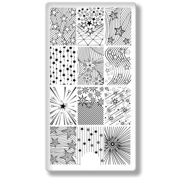 Stamping Schablone Sterne