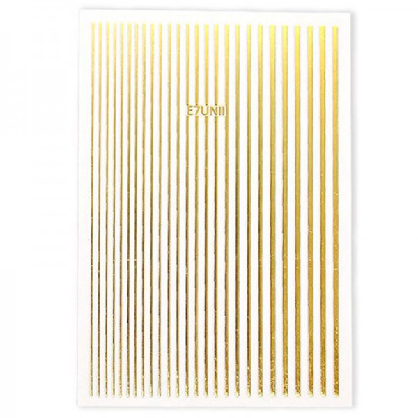 Flexible Stripes Gold Sticker Nails