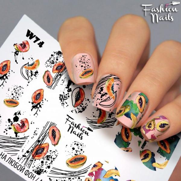 Slider Fashion Nails Bunt Obst