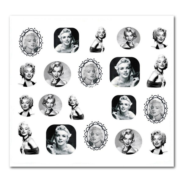 Nailart Tattoo Marilyn Monroe 21