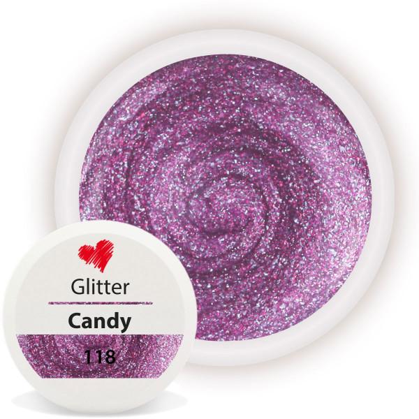 Glitter Farbgel Candy nailart glitzer