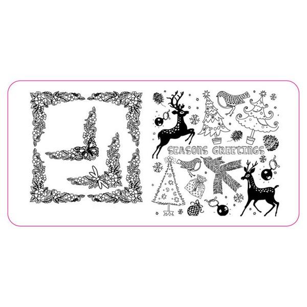 Stamping Schablone Weihnachten 3