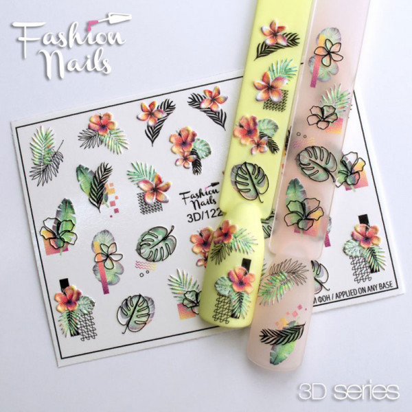 3D Nail Slider 122 Fashion Nails Blumen Frühling