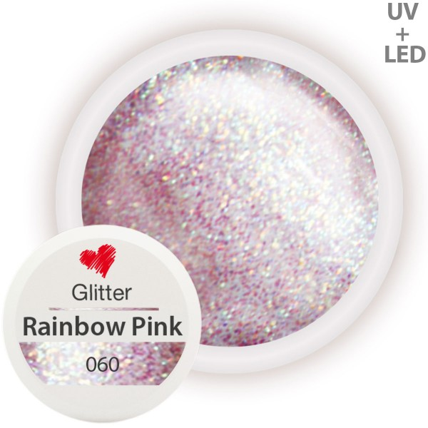 060-Glitter-Farbgel-Rainbow-Pink