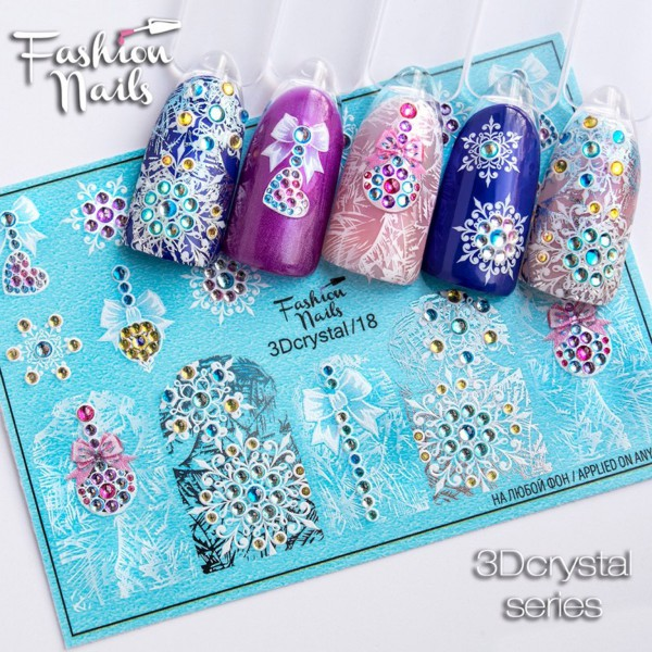 3D Crystal Nail Slider 18