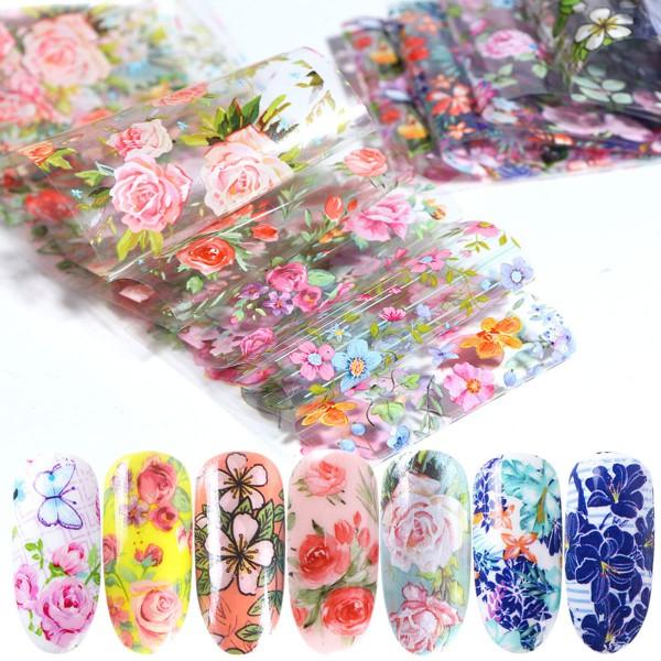 10 Transferfolien Blumen
