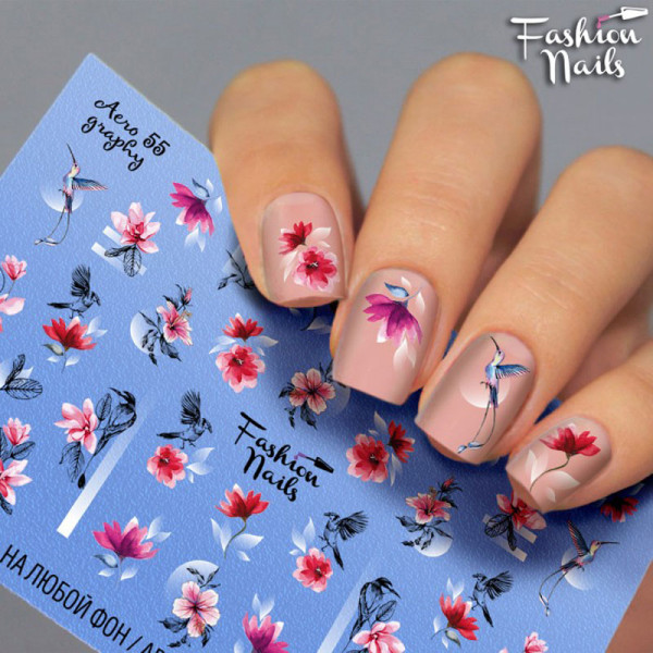 Blumen Airbrush Slider 55 von Fashion Nails