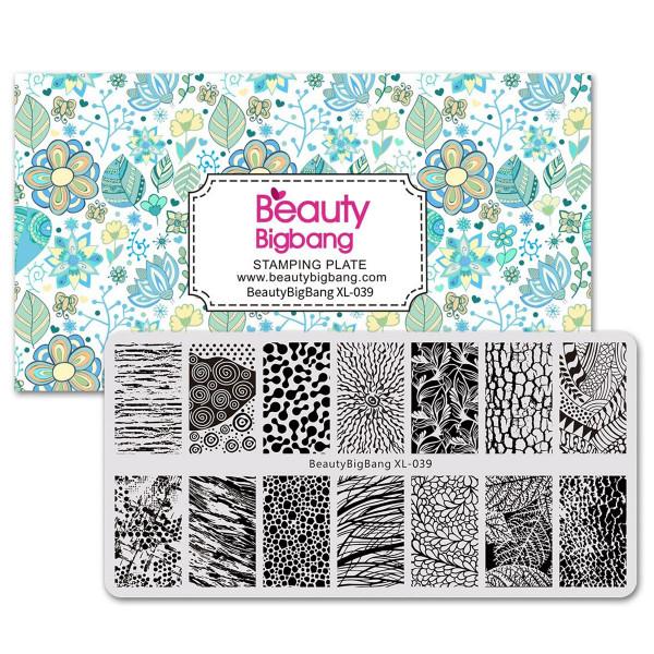 Blätter Stamping Schablone Beauty 39