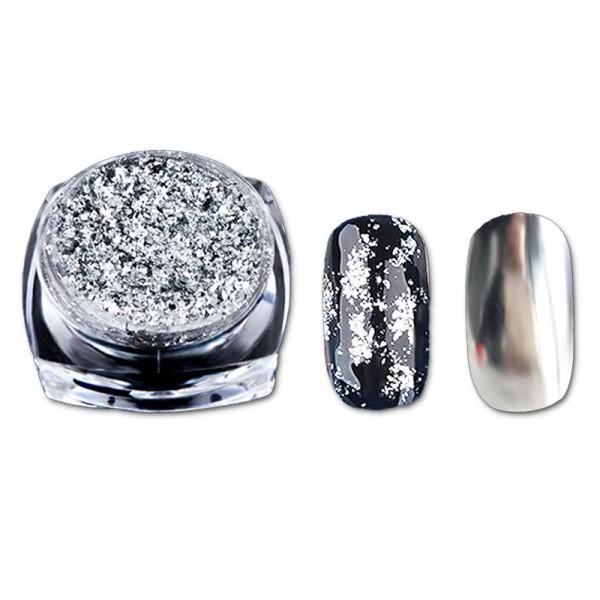 Chrome Flakes Silber