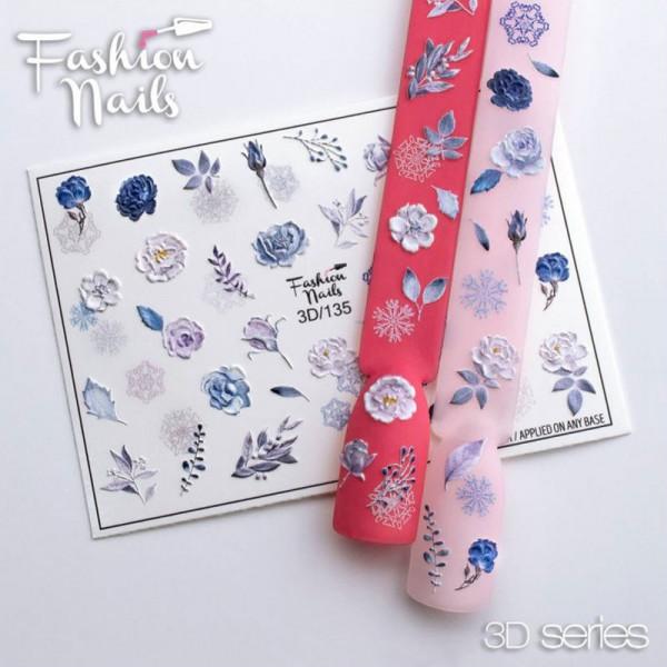 Blumen 3D Nail Slider 135 Fashion Nails