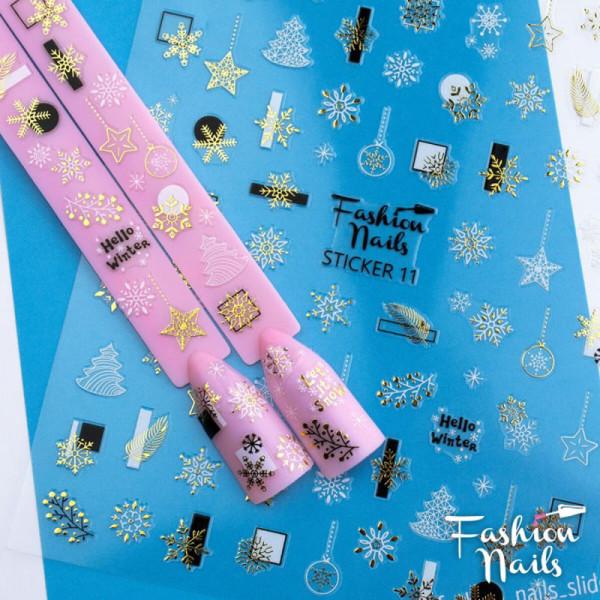 Xmas Sticker Fashion Nails weihnachten