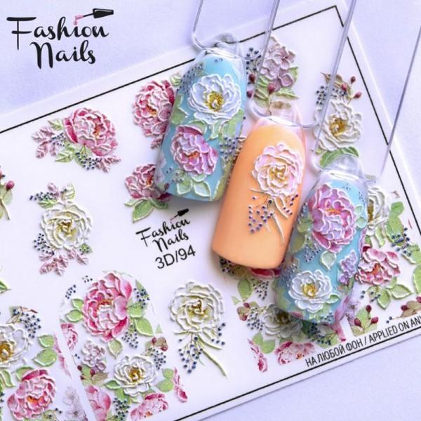 3D Nail Slider 94 Blumen