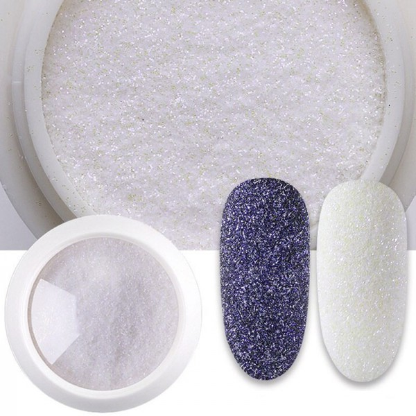 Sugar Glitter weiß nails nailart