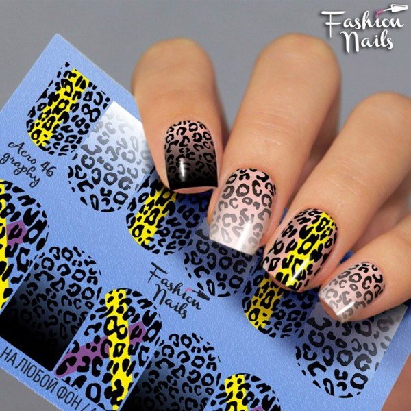 Fashion Nails Airbrush Slider Leo Muster