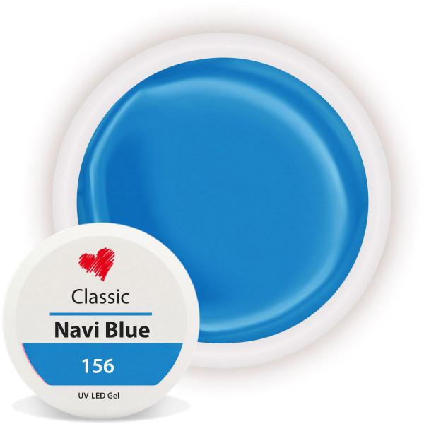Classic Farbgel Navi Blue Blau Nailart