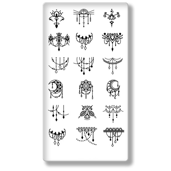 Stamping Schablone Mandala 6