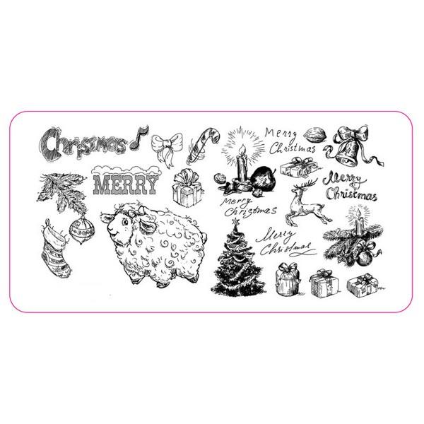 Stamping Schablone Weihnachten 1