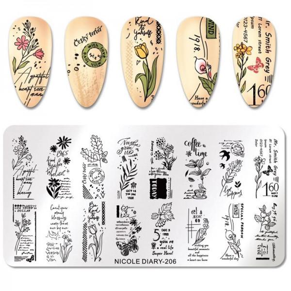 Vintage Stamping Schablone für Nageldesign