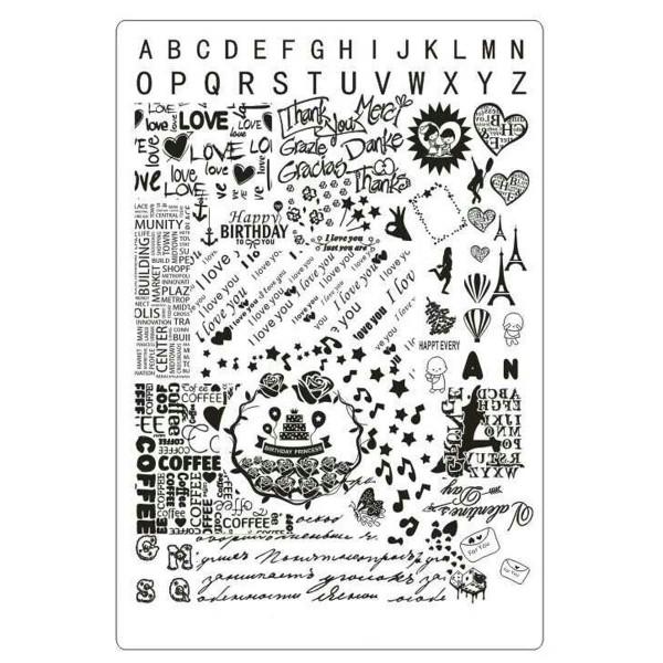 Stamping Schablone Schrift 2