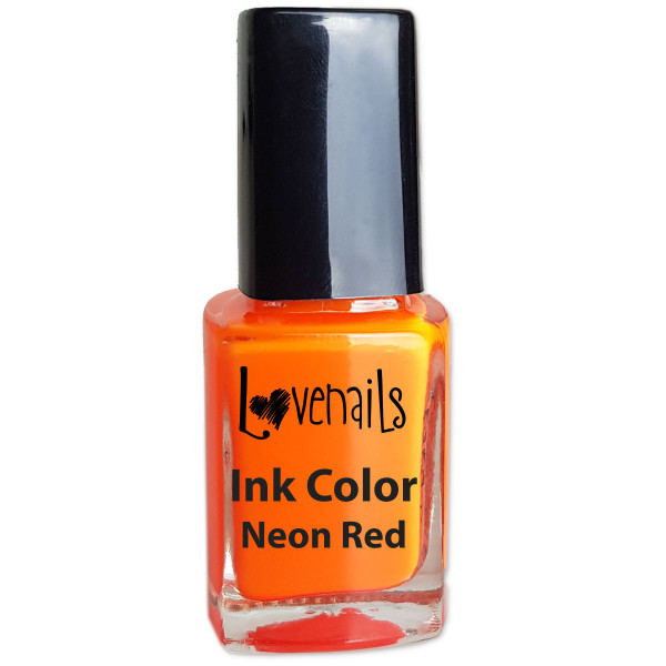Ink Color Neon Red Sommer Nailart