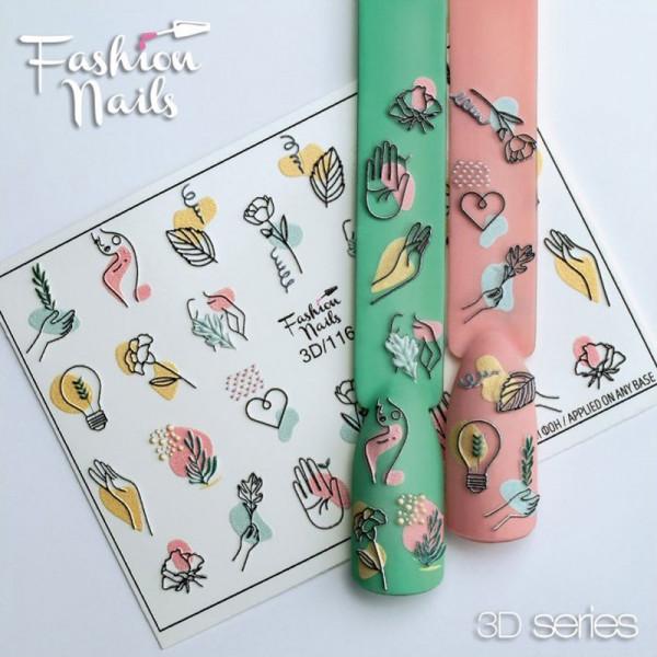 3D Nail Slider 116 Fashion Nails Blumen