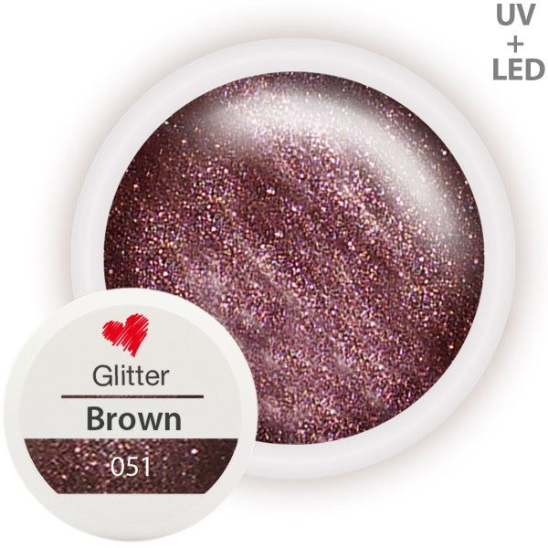 051-Glitter-Farbgel-Brown