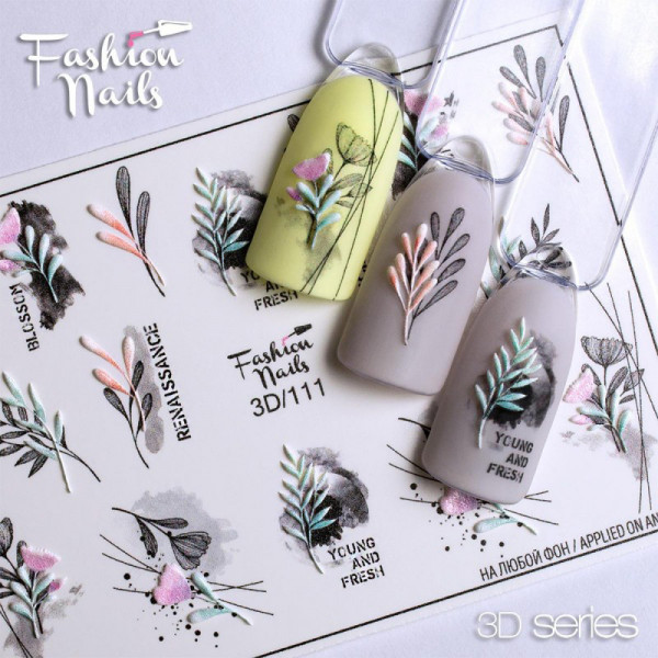 3D Nail Slider 111 Fashion Nails Blumen