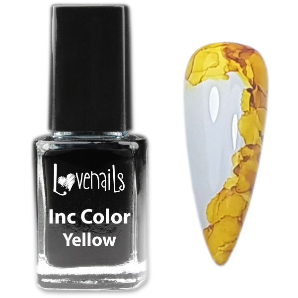 Inc Color Nailart Gelb 12ml