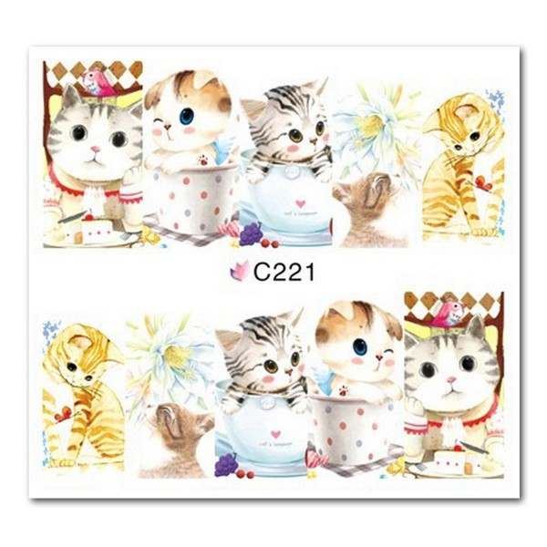 Nailart Tattoo Katze 4