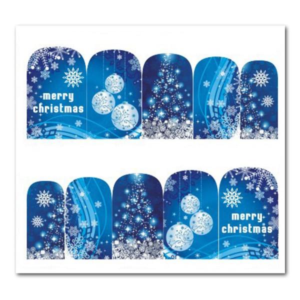 Weihnachten Nail Tattoo Slider Wrap Schneeflocken