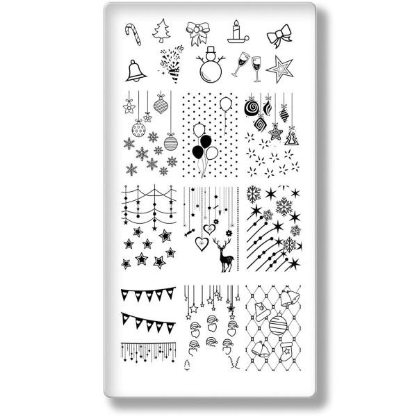 Stamping Schablone Xmas 24