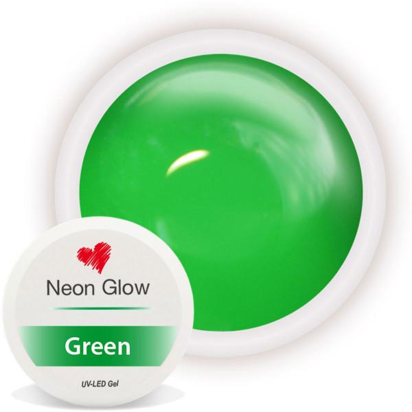Neon Glow Farbgel Green grün nailart