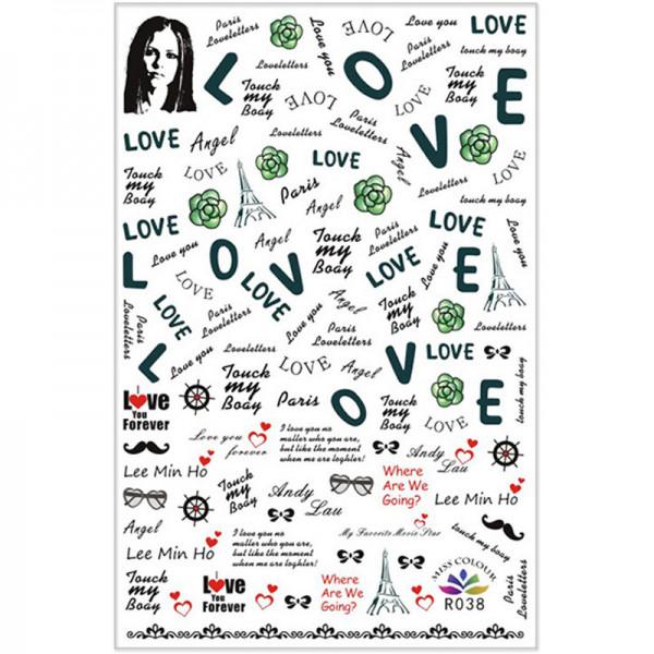 Nail Sticker Schrift Love Nailart buchstaben