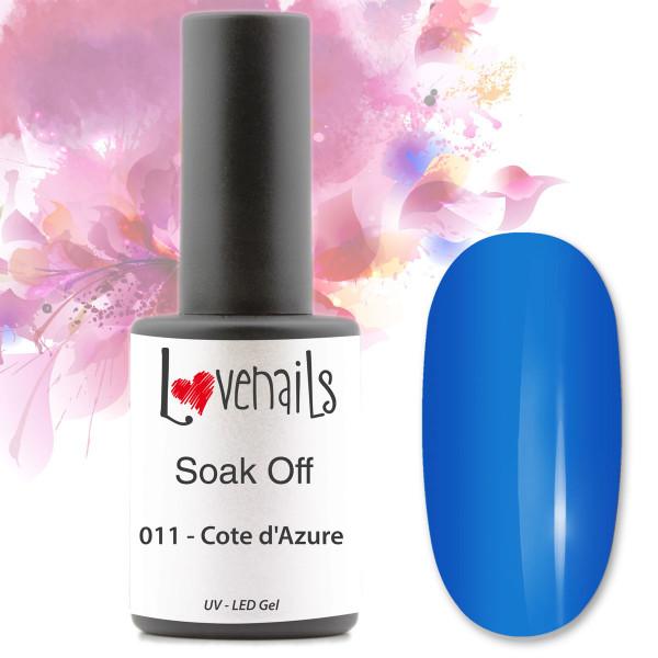 Soak Off Farbgel 011 Cote d'Azure Blau