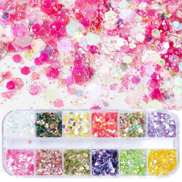 12erGlitter-Box-Hexagon-Nailart