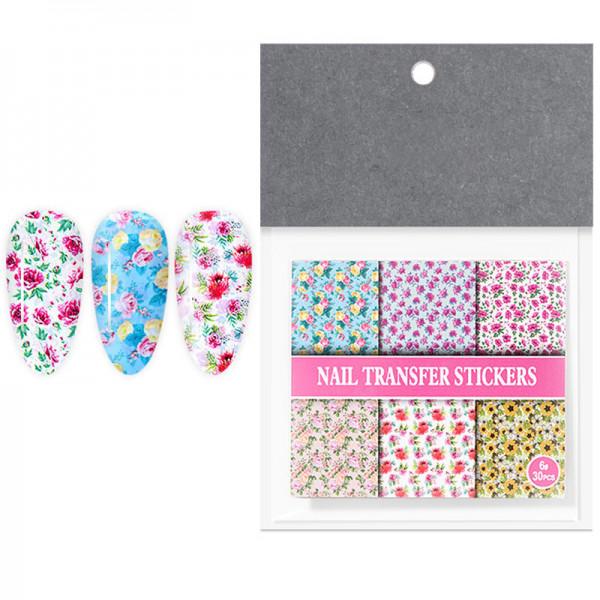 Transferfolien Set Blumen Nailart nails