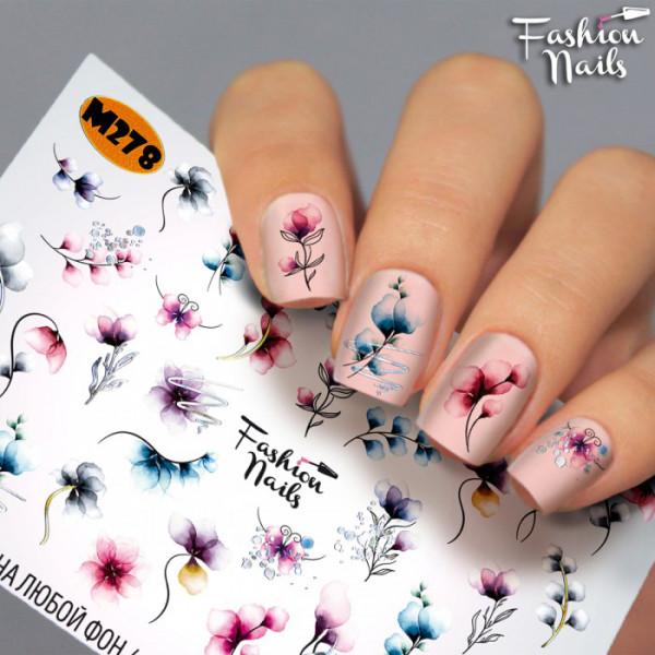 Metallic Slider 278 Sommer Blumen