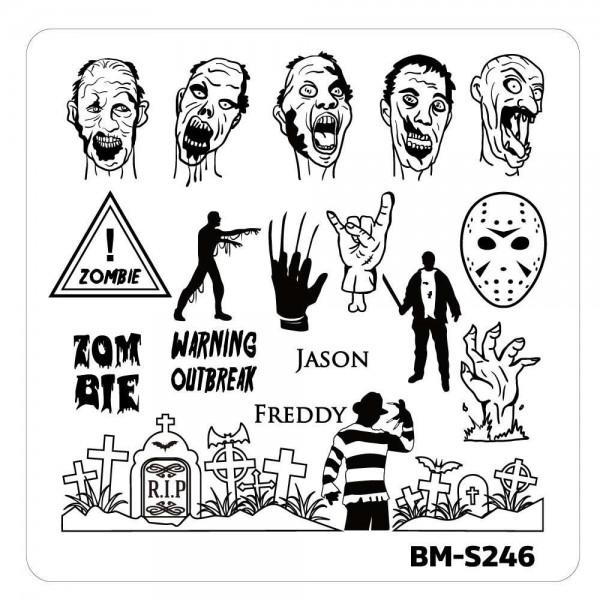 Stamping Schablone BM-S246