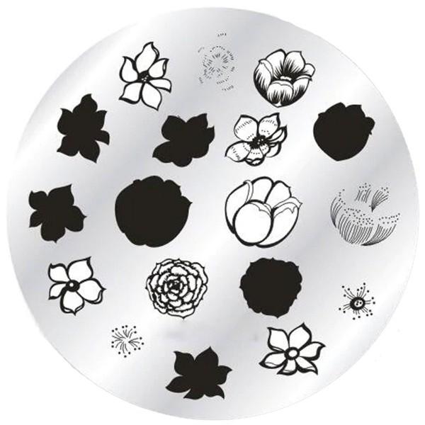 Stamping Schablone Blumen doppel Stamping