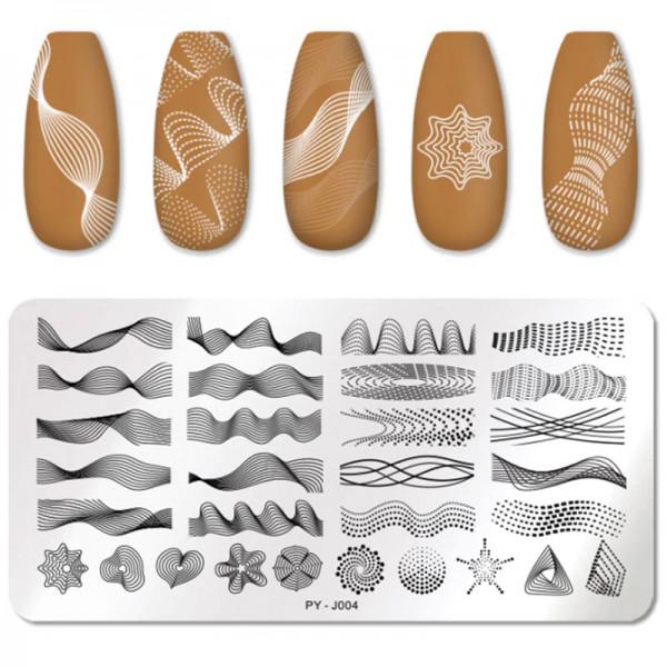 Stamping Schablone Geometric nägel nailart