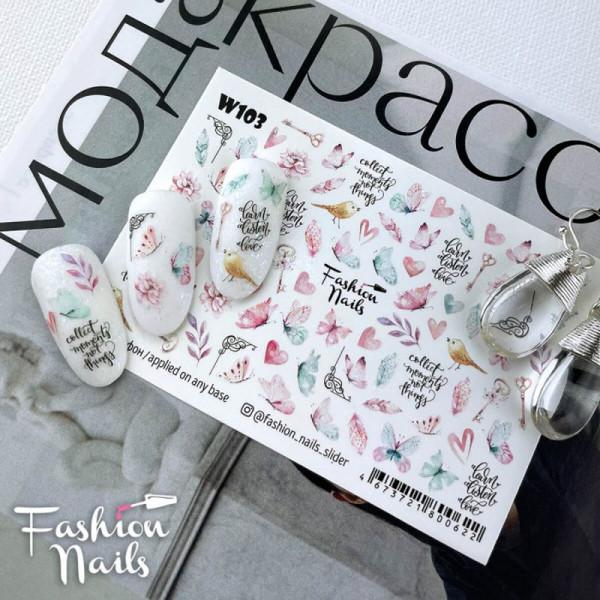 Schmetterling Slider Fashion Nails