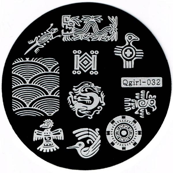 Stamping Schablone Qgirl-032
